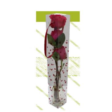 Triple Rose Bud Vase
