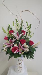 Triple the Love Vase Arrangement