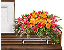 TRIUMPHANT TRIBUTE Casket Spray
