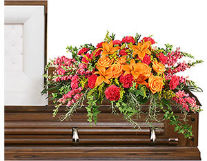 TRIUMPHANT TRIBUTE Casket Spray in Anadarko, OK | SIMPLY ELEGANT FLOWERS ETC