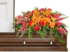 TRIUMPHANT TRIBUTE Casket Spray in North Richland Hills, TX | 3D FLORAL DESIGN