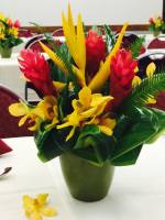 TROPICAL ROYALTY Tropical arrangement in Kahuku, HI | North Shore Weddings & Flowers