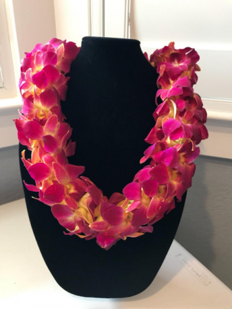 TROJAN/YELLOW AND RED DOUBLE ORCHID LEI GRADUATION LEI