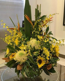 Tropical Abundance Vase arrangement