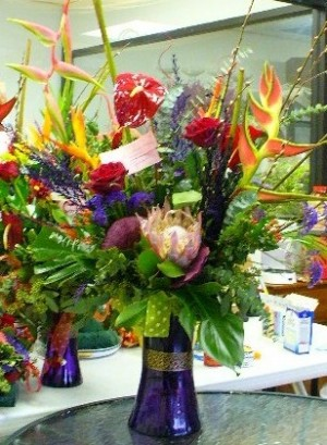 Tropical Arrangement  in Houston, TX | MARY'S LITTLE SHOP OF FLOWERS