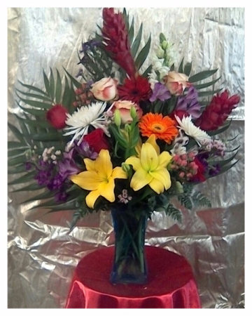 Tropical Arrangement in Vase