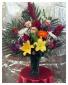 Tropical Arrangement in Vase