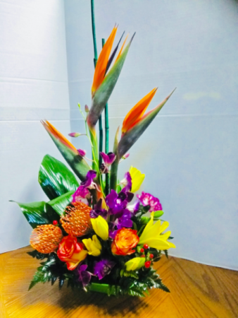 Tropical Artistry Birthday. Arrangement