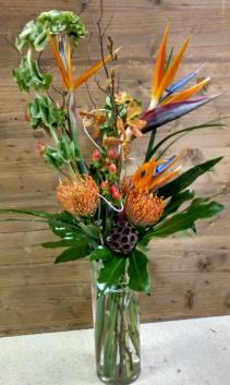 Tropical breeze Contemporary tropical vase