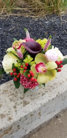 tropical bubble vase