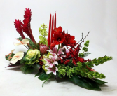Tropical Christmas Centerpiece