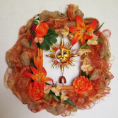 Tropical Fall Wreath artificial wreath