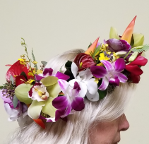 Tropical Floral Crown  Bridal Flower Accessories