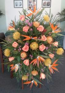 Tropical Flower Funeral Spray