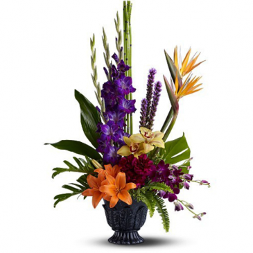 Tropical Garden Tribute Funeral Flowers