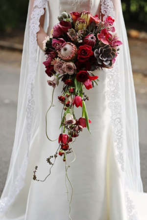 Tropical Heat Bridal Bouquet in Osoyoos, BC | Osoyoos Flowers