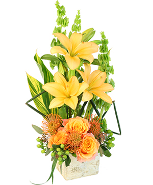 Tropical Honey Floral Design in Mobile, AL | ZIMLICH THE FLORIST