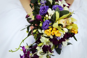 tropical joy bridal bouquet in Airdrie, AB | Flower Whispers