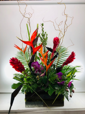 Tropical Jubilee  Container Arrangement in North Bend, OR | PETAL TO THE METAL FLOWERS