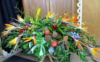 Tropical Memories Casket Spray Casket Flowers