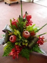 Tropical Mosaic Arrangement