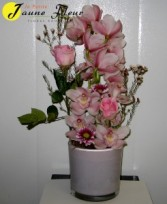 Tropical-Orchid Love  flower & vase colors are based on availability