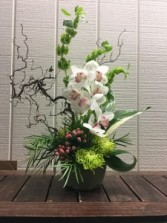 Asian Inspired Orchid Design Tropical