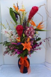 Tropical Paradise  Fresh Flower Arrangement