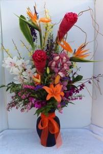 Tropical Paradise  Fresh Flower Arrangement