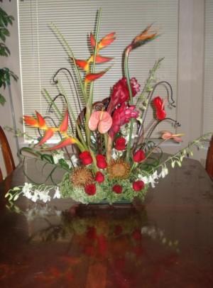 TROPICAL PARADISE Large  Arrangement in Fairfield, CA   ADNARA FLOWERS & MORE
