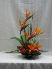 Tropical Paradise table arrangement
