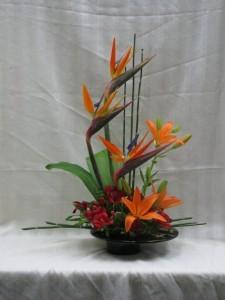 Tropical Paradise table arrangement