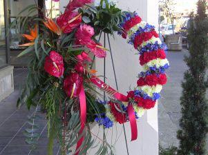 Tropical Patriotism Funeral Wreath