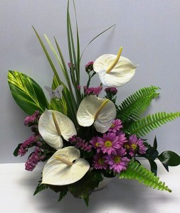 Tropical pink white tropical arrangement in webster tx la tropical pink white tropical arrangement mightylinksfo