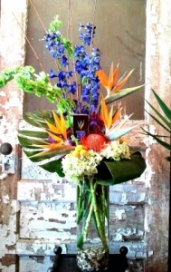 Tropical Punch Tall Arrangement