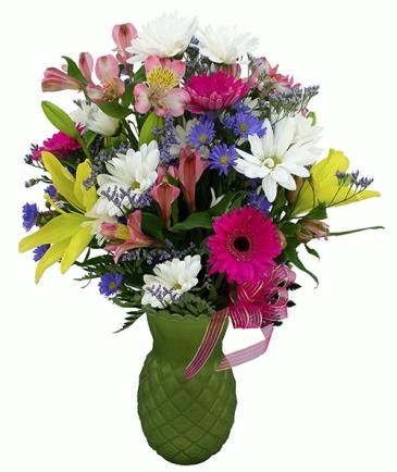 Tropical Punch Vase Arrangement