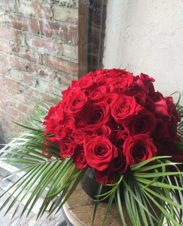 Tropical Rose Arrangement In Toronto On Botany Floral Studio