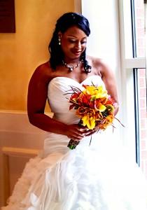 Tropical Spring Bouquet Wedding Flowers
