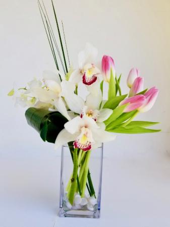 Tropical Spring Vase arrangement