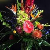 Tropical sunset floral bouquet
