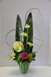 Tropical Tall vase arrangement