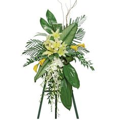 TROPICAL TRIBUTE FUNERAL SPRAY in Amelia Island, FL | ISLAND FLOWER & GARDEN