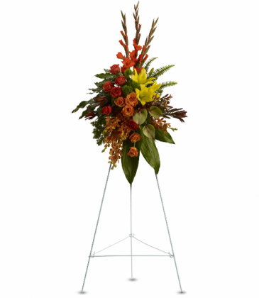 Tropical Tribute Spray Standing Easel