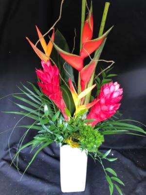 Tropical Vacation Rustic Vase in Longview, WA | Banda's Bouquets