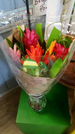 Tropical Wrapped Bouquet Wrapped bouquet
