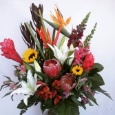 Tropicals & Lily Vase arrangement