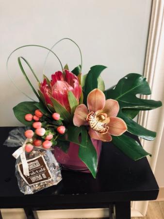 tropics and chocolate Flower Arrangement
