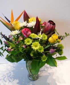 Trops is Tops! Tropical vase arrangement
