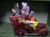 truck candy arrangement candy boquet