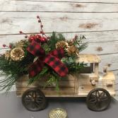 Truck Full of Christmas Joy Arrangement